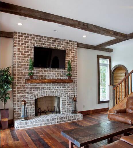 White_Walls_Brick_Fireplace