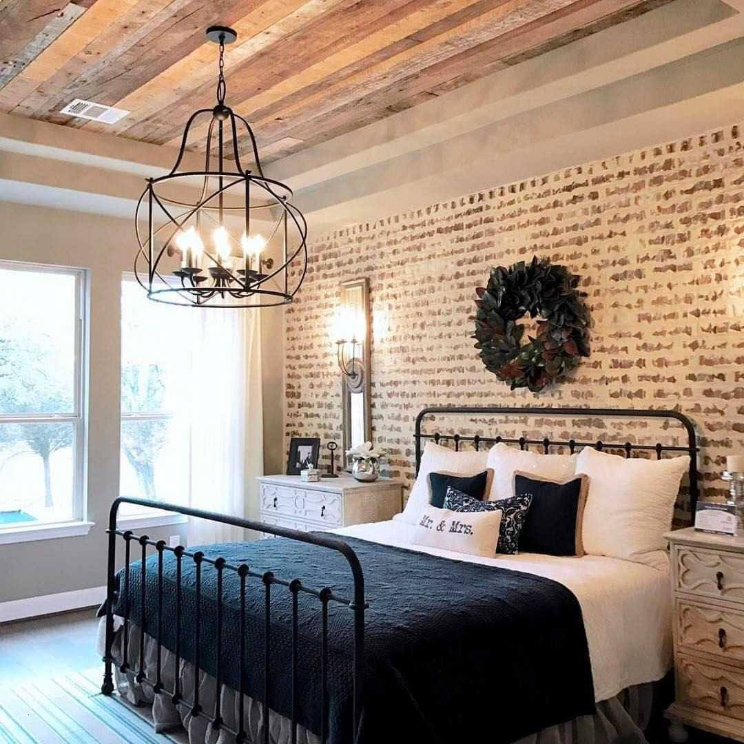 white_brick_accent_wall_bedroom