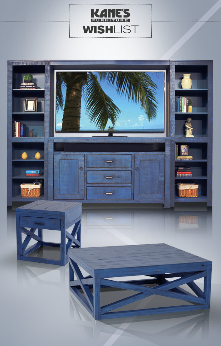 Colorful Concept of Home Entertainment Center