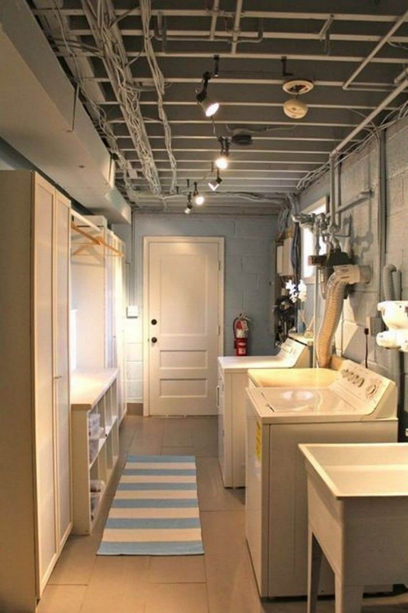 unfinished_basement_laundry_room_ideas