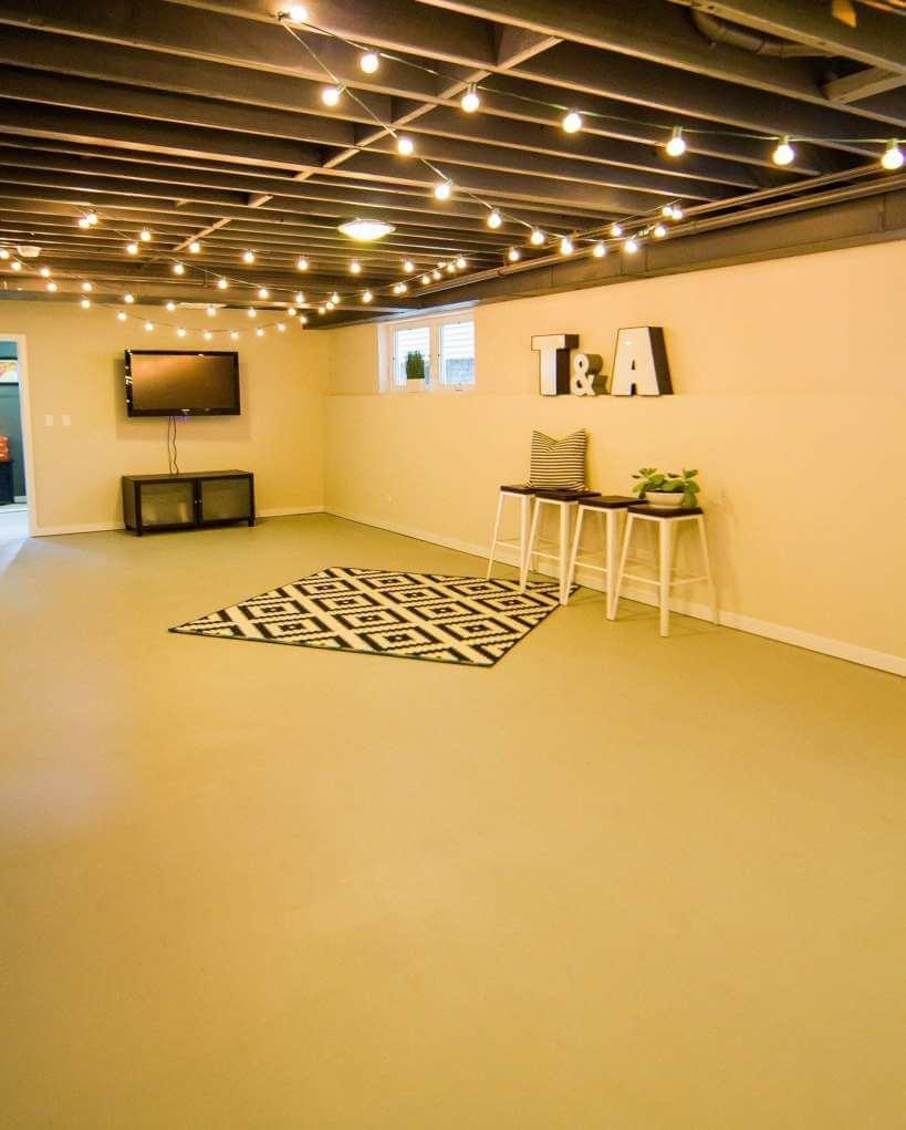 unfinished_basement_lighting_ideas