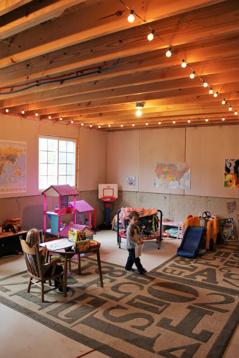 unfinished_basement_playroom_ideas