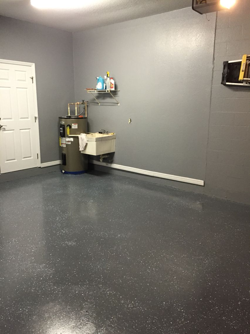 Basement floor paint distributes light