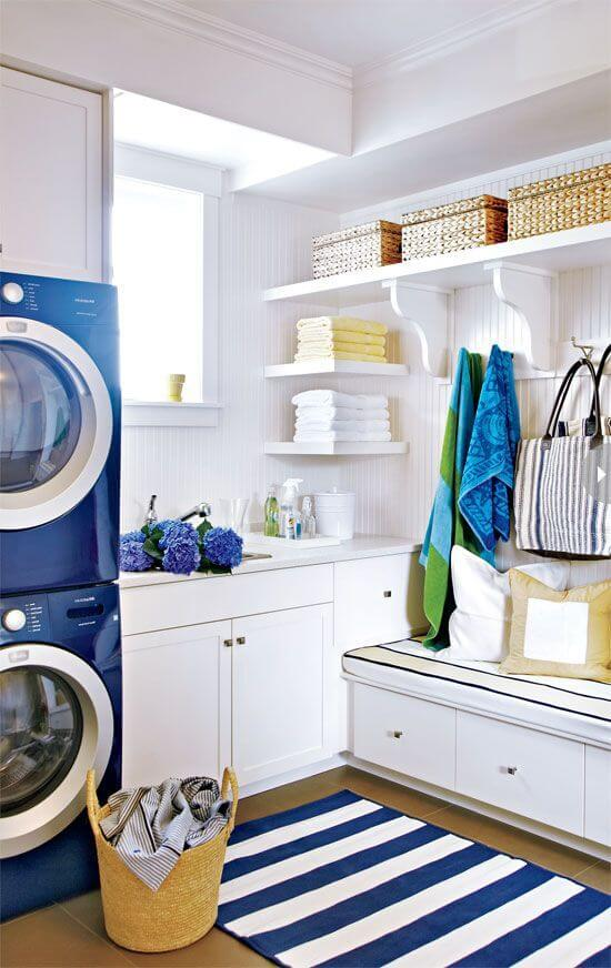 Laundry Room Nautical Influence