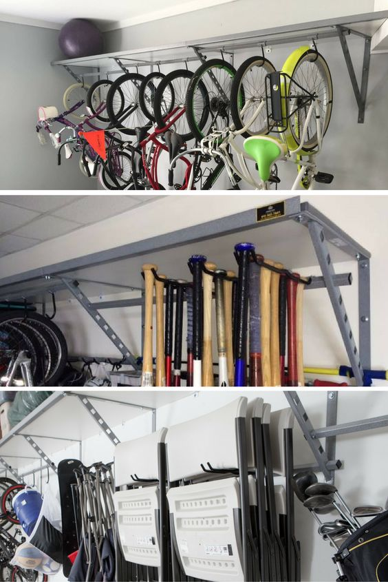 Overhead Garage Shelving Ideas