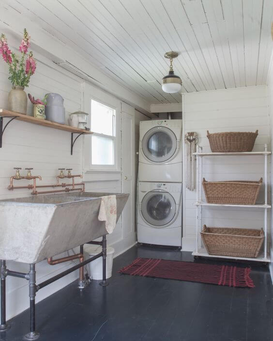 Rustic Industrial Laundry Room