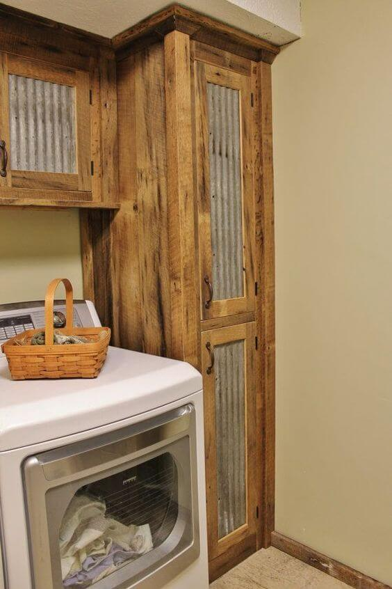 Rustic Tall Laundry Room