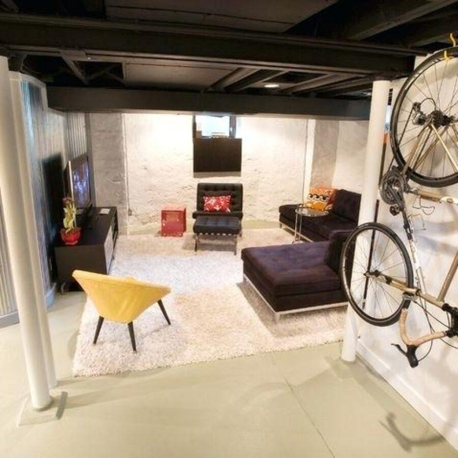 Black Basement Ceiling Ideas