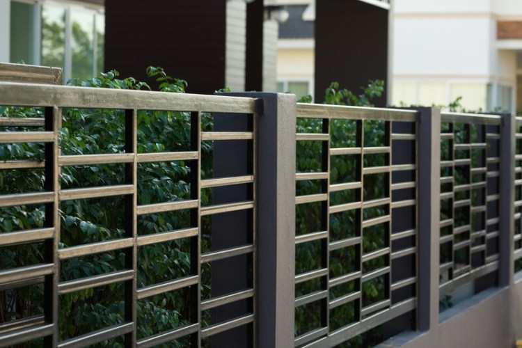 Black Steel Fence Ideas