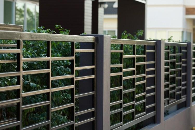 Black Steel Fence Ideas