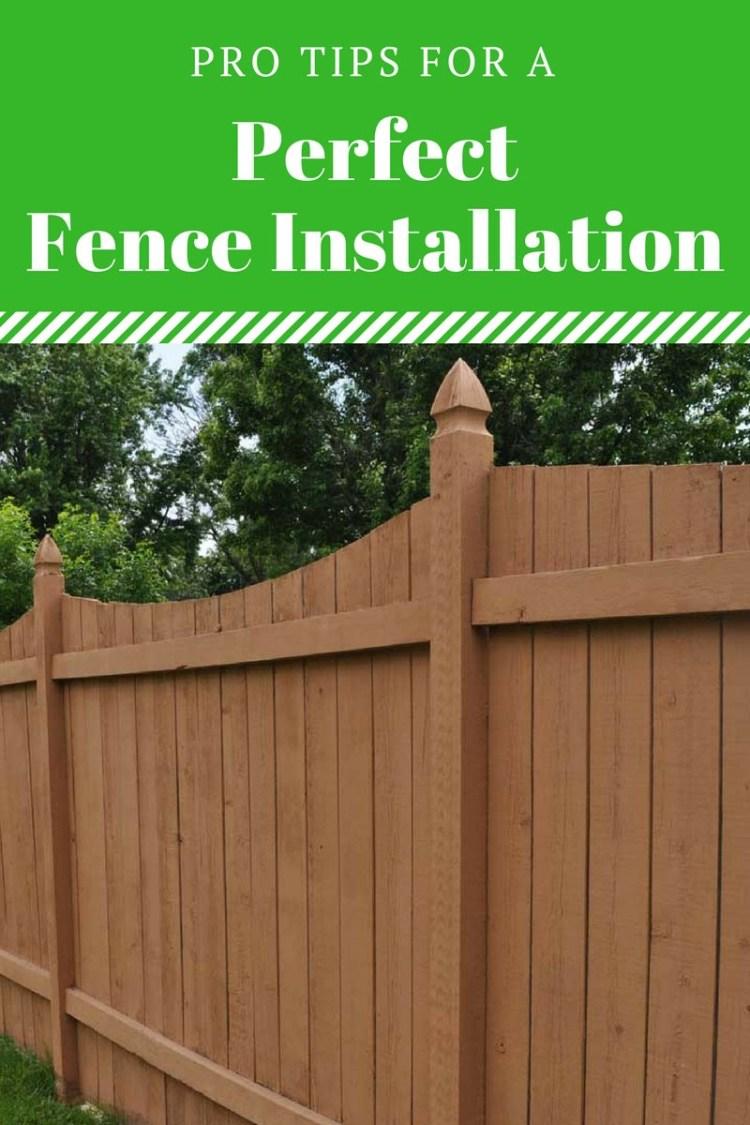 fence installation ideas
