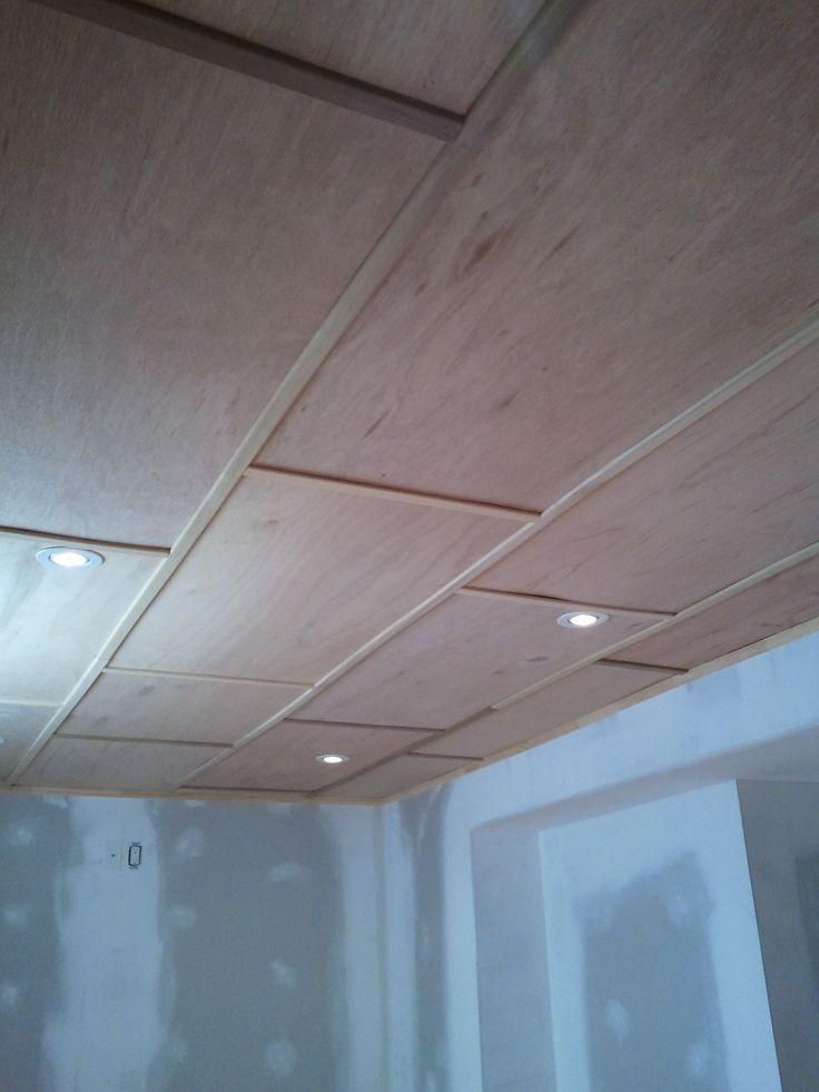 basement plywood ceiling ideas