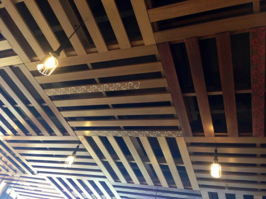 basement pallet wood ceiling ideas