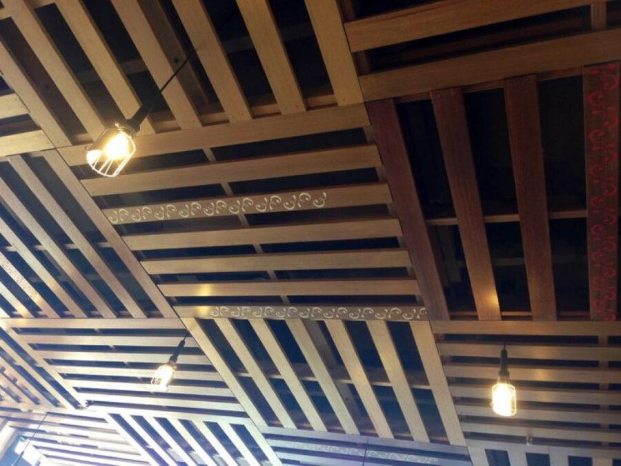 basement pallet wood ceiling ideas