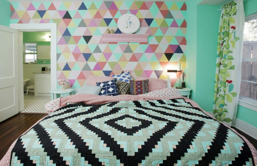 geometric wall stencils for painting