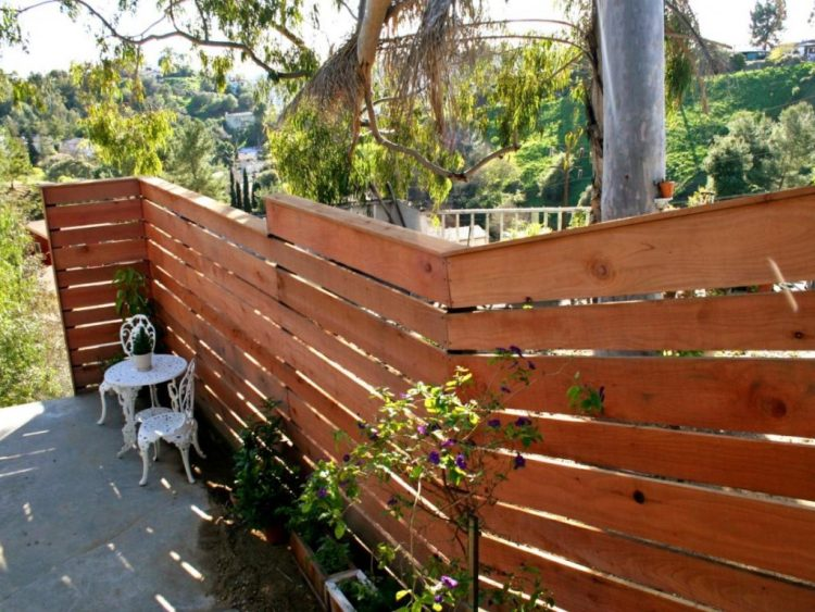 horizontal privacy fence ideas