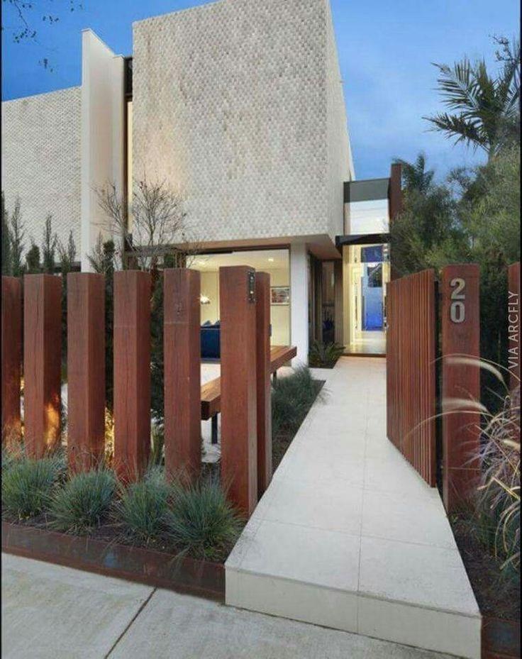 modern front fence designs