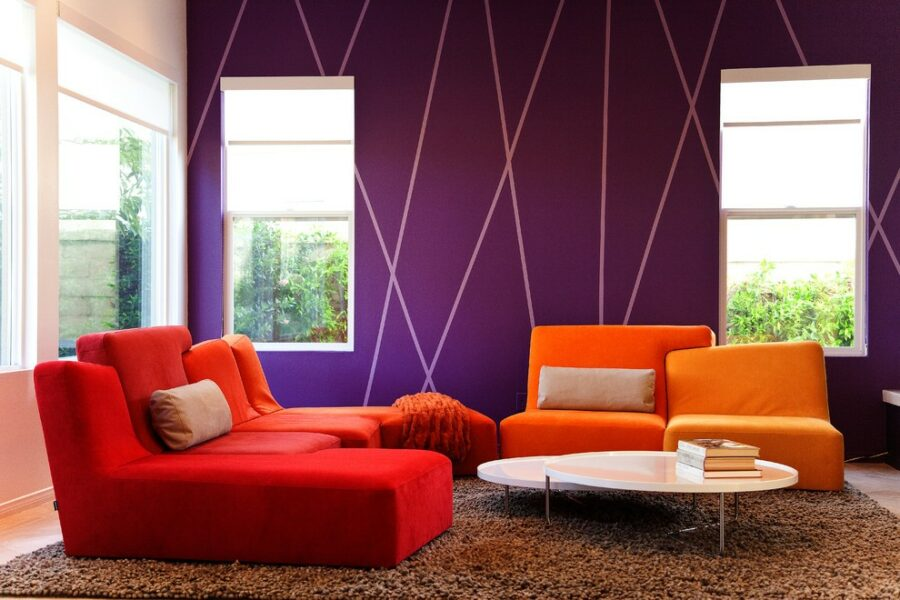 Sensational Accent Wall surface Suggestions In Purple