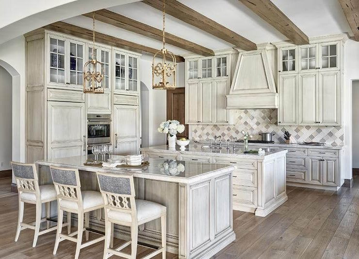 antique_white_kitchen_cabinets_with_Rustic_Wood