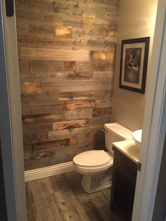 half bathroom wall ideas