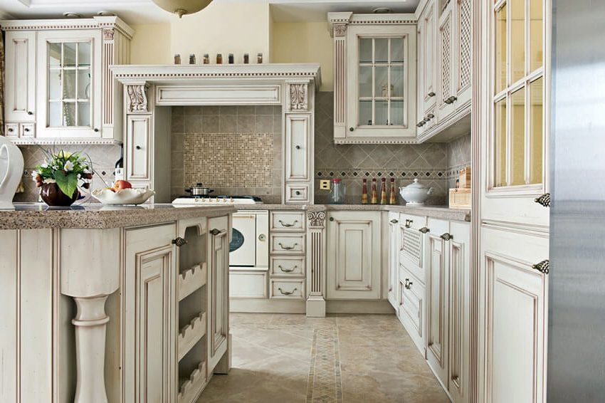 french_antique_white_kitchen_cabinets