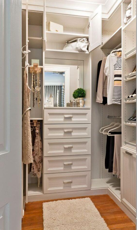 walk in closet ideas small