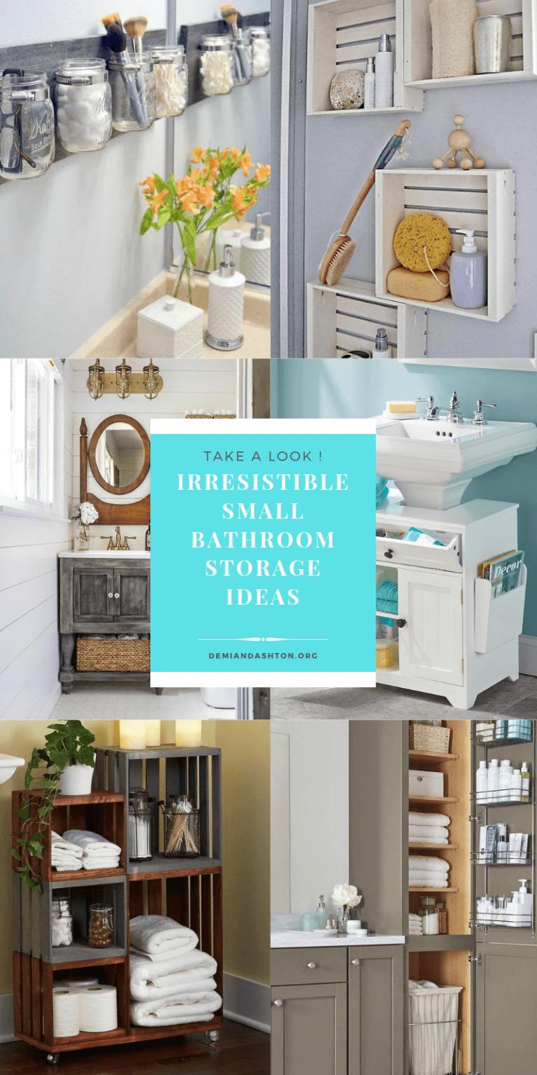 Irresistible Small Bathroom Storage Ideas