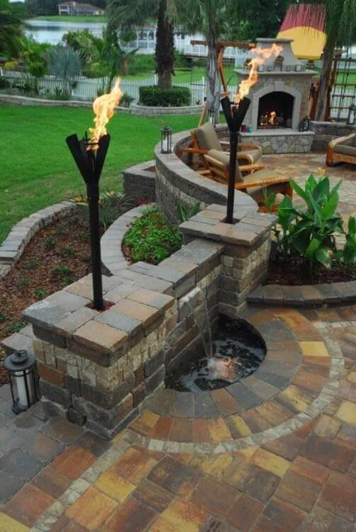 outdoor fireplace mantel ideas