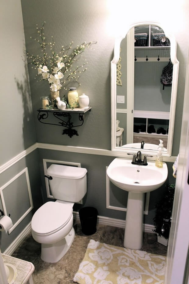 powder room ideas pedestal sink