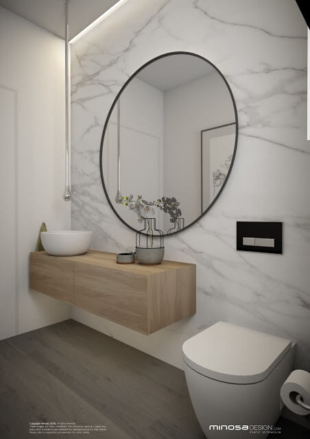 powder room tile floor ideas