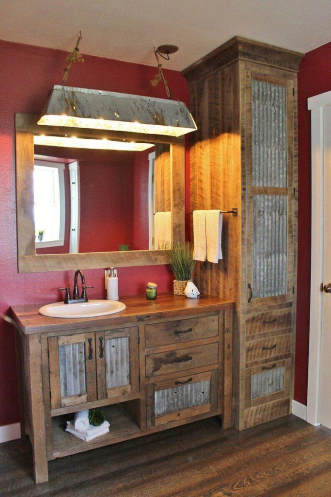 rustic bathroom ideas on a budget