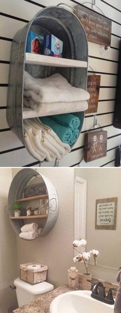 rustic bathroom shelf ideas