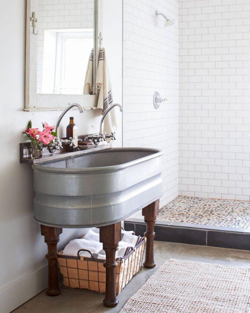 rustic bathroom sink ideas