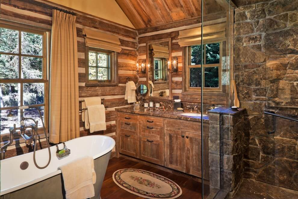 rustic master bathroom ideas