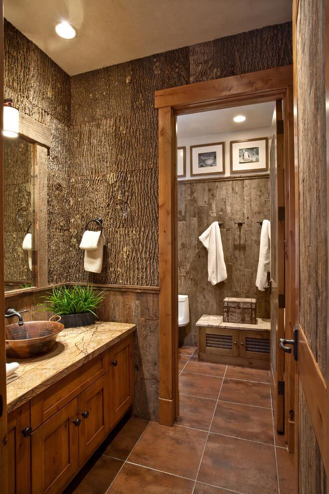 rustic small bathroom designs