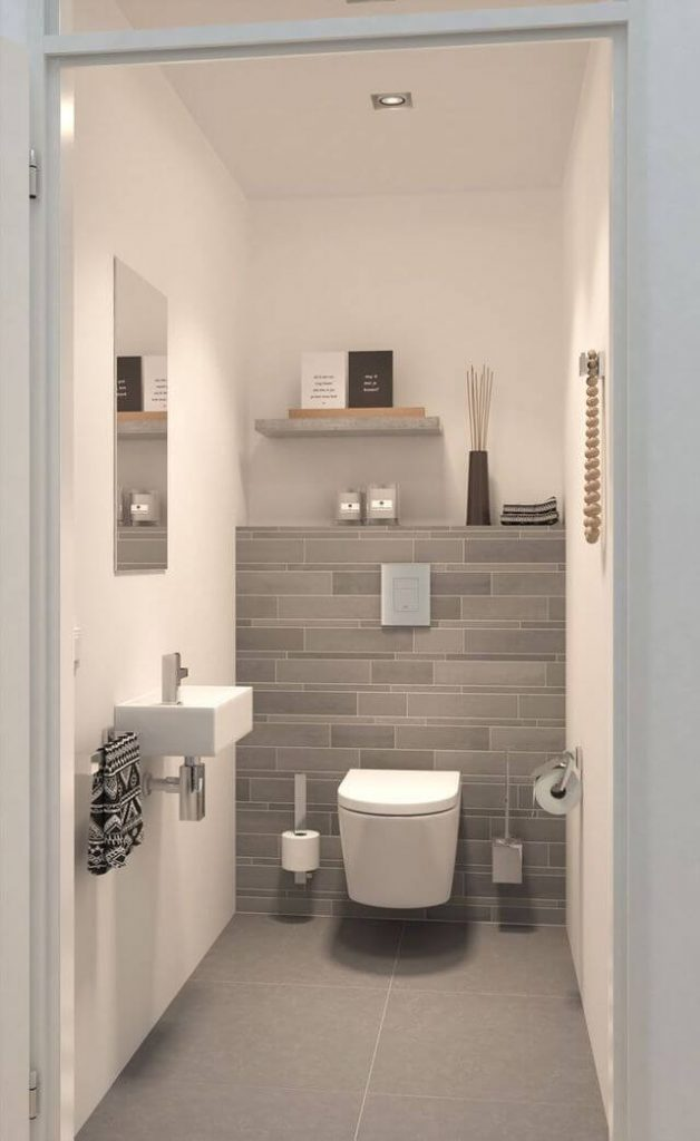 very small powder room ideas