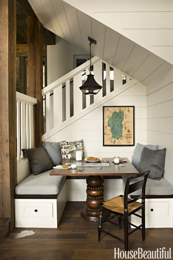 A nook under the stairs