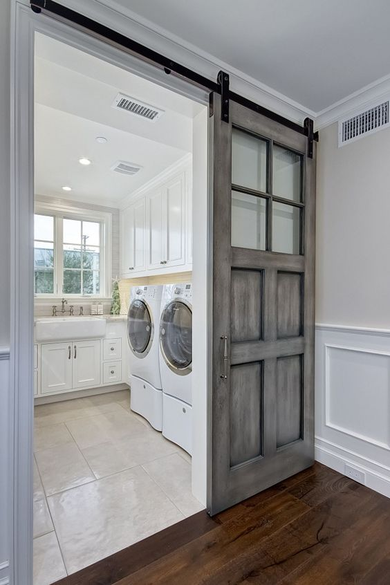 barn door ideas for laundry room