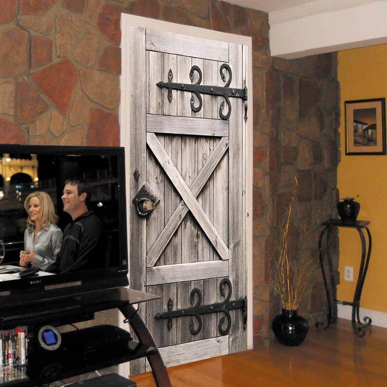 barn door ideas for living room