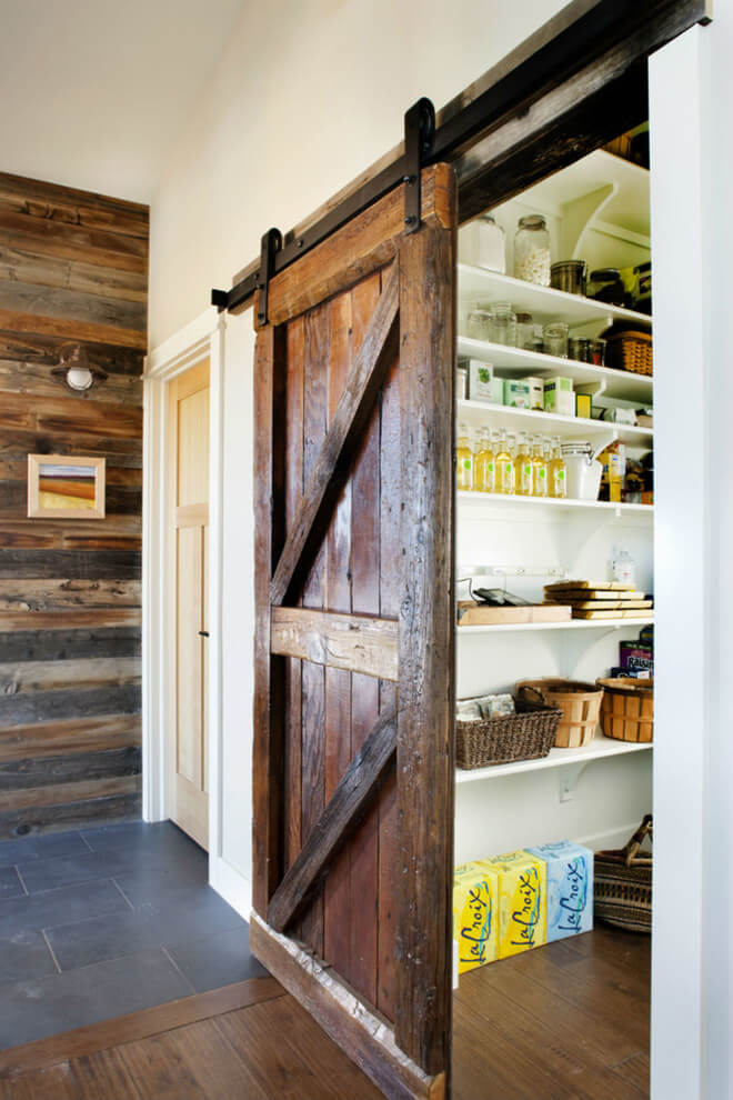 barn door pantry ideas