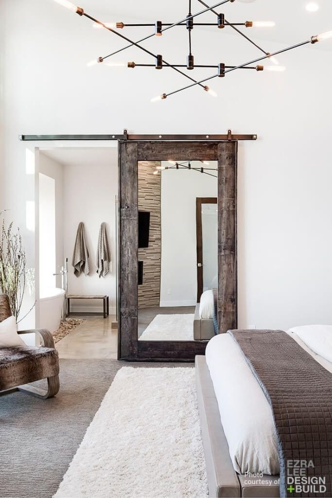 bathroom door mirror ideas