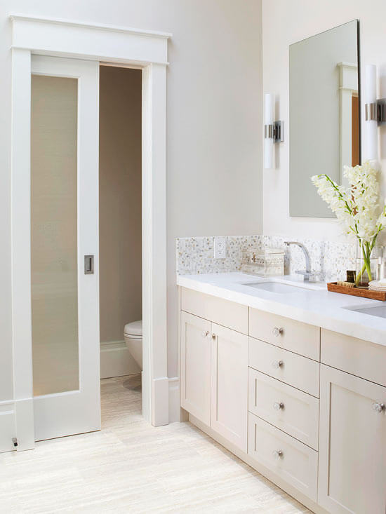 bathroom pocket door ideas