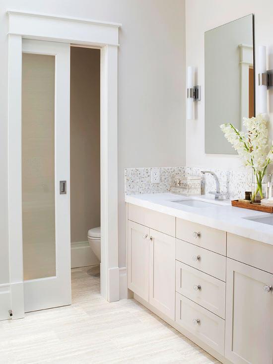 bathroom pocket door ideas
