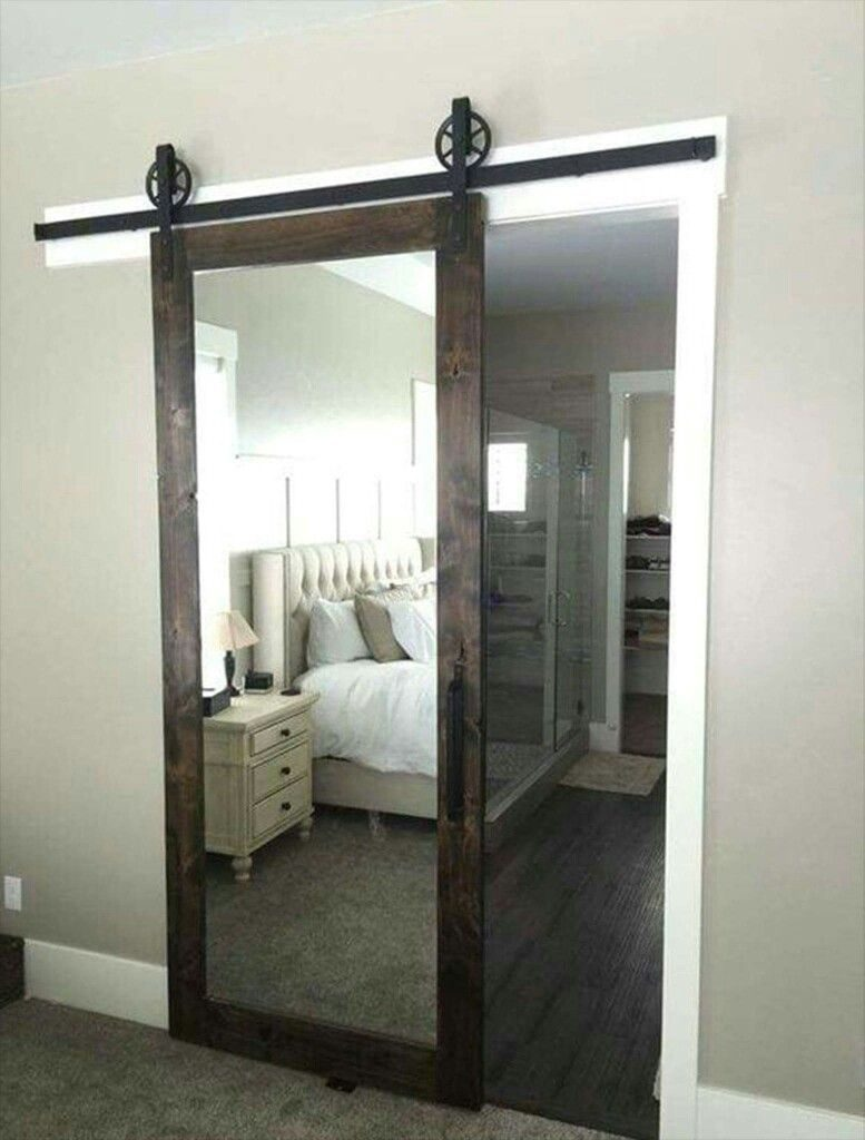 bedroom closet barn door ideas