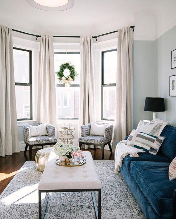 bow window curtain ideas