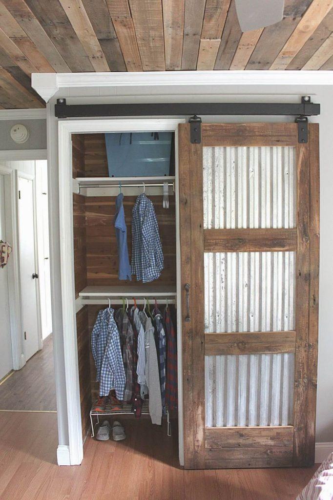closet barn door ideas