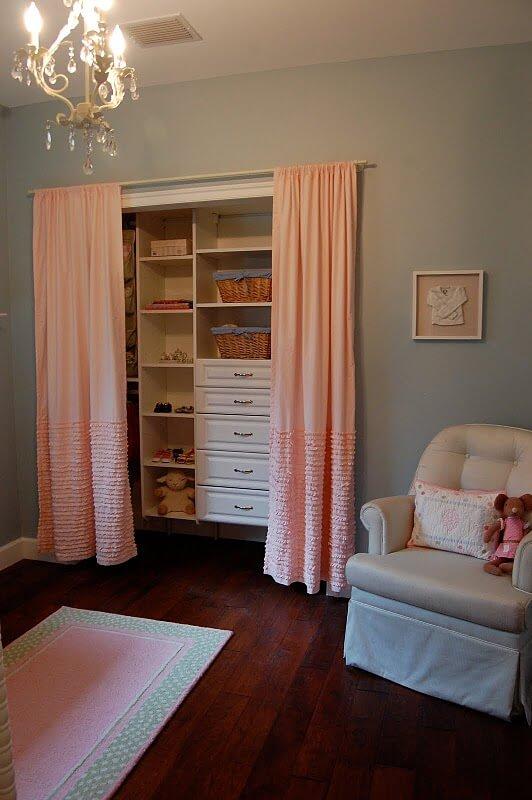 curtains as closet doors