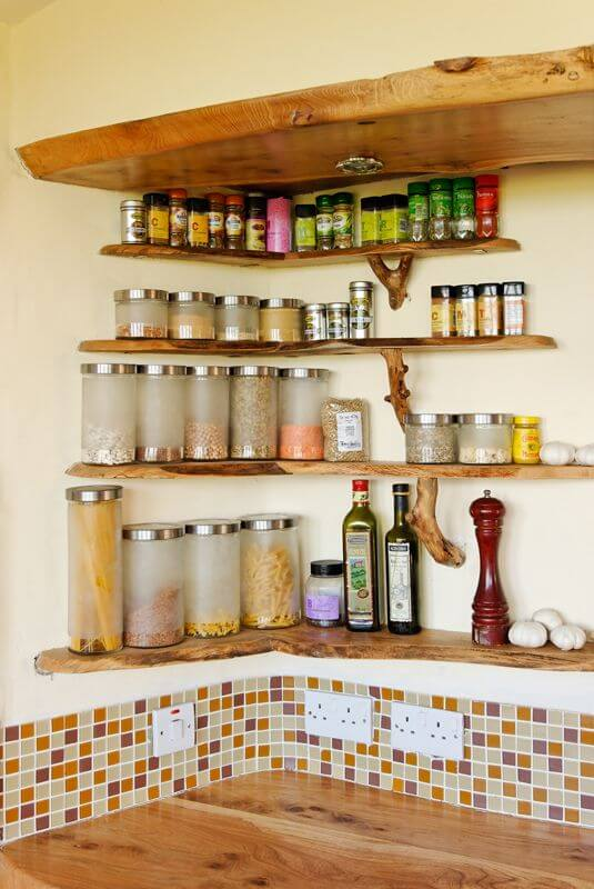 corner spice rack ideas