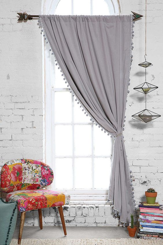 corner window curtain ideas