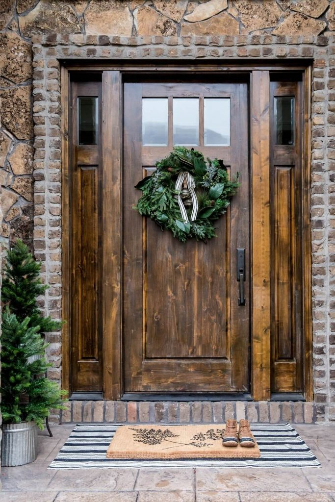 front door decorating ideas for winter